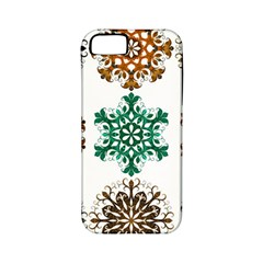 A Set Of 9 Nine Snowflakes On White Apple Iphone 5 Classic Hardshell Case (pc+silicone)