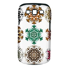 A Set Of 9 Nine Snowflakes On White Samsung Galaxy S Iii Classic Hardshell Case (pc+silicone)