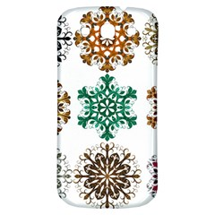 A Set Of 9 Nine Snowflakes On White Samsung Galaxy S3 S Iii Classic Hardshell Back Case