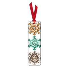 A Set Of 9 Nine Snowflakes On White Small Book Marks