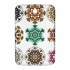 A Set Of 9 Nine Snowflakes On White Samsung Galaxy Note 8 0 N5100 Hardshell Case