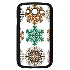 A Set Of 9 Nine Snowflakes On White Samsung Galaxy Grand Duos I9082 Case (black)