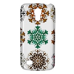 A Set Of 9 Nine Snowflakes On White Galaxy S4 Mini