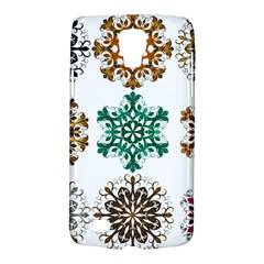 A Set Of 9 Nine Snowflakes On White Galaxy S4 Active