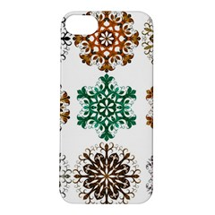 A Set Of 9 Nine Snowflakes On White Apple Iphone 5s/ Se Hardshell Case