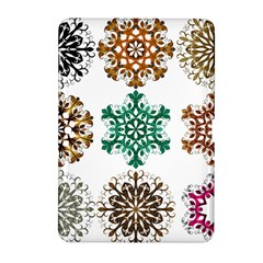 A Set Of 9 Nine Snowflakes On White Samsung Galaxy Tab 2 (10 1 ) P5100 Hardshell Case