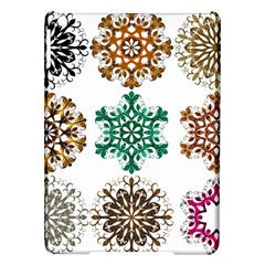 A Set Of 9 Nine Snowflakes On White Ipad Air Hardshell Cases
