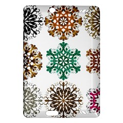 A Set Of 9 Nine Snowflakes On White Amazon Kindle Fire Hd (2013) Hardshell Case
