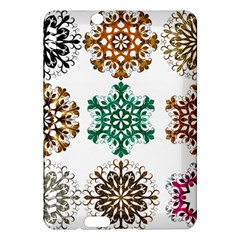 A Set Of 9 Nine Snowflakes On White Kindle Fire Hdx Hardshell Case