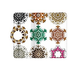 A Set Of 9 Nine Snowflakes On White Kindle Fire Hdx 8 9  Flip 360 Case