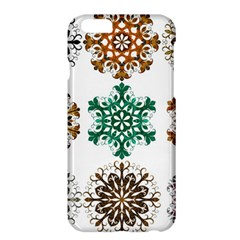A Set Of 9 Nine Snowflakes On White Apple Iphone 6 Plus/6s Plus Hardshell Case