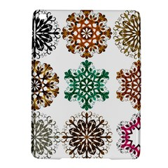 A Set Of 9 Nine Snowflakes On White Ipad Air 2 Hardshell Cases