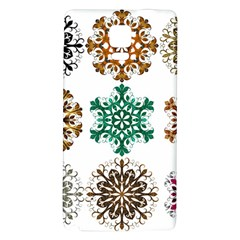 A Set Of 9 Nine Snowflakes On White Galaxy Note 4 Back Case