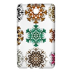A Set Of 9 Nine Snowflakes On White Samsung Galaxy Tab 4 (8 ) Hardshell Case