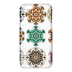 A Set Of 9 Nine Snowflakes On White iPhone 6/6S TPU Case