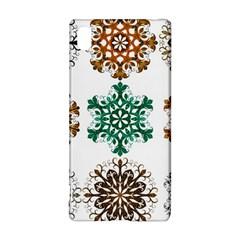 A Set Of 9 Nine Snowflakes On White Sony Xperia Z3+