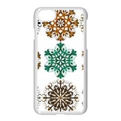 A Set Of 9 Nine Snowflakes On White Apple Iphone 7 Seamless Case (white)