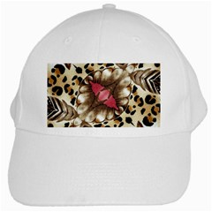 Animal Tissue And Flowers White Cap