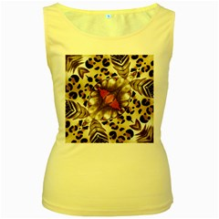 Animal Tissue And Flowers Women s Yellow Tank Top