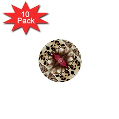 Animal Tissue And Flowers 1  Mini Buttons (10 Pack)