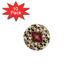 Animal Tissue And Flowers 1  Mini Magnet (10 Pack)