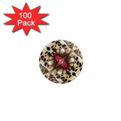 Animal Tissue And Flowers 1  Mini Magnets (100 Pack)