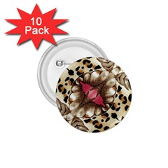 Animal Tissue And Flowers 1 75  Buttons (10 Pack)