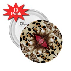Animal Tissue And Flowers 2 25  Buttons (10 Pack)