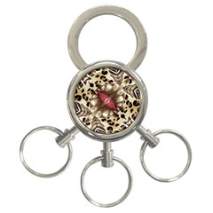 Animal Tissue And Flowers 3 Ring Key Chains