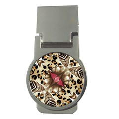 Animal Tissue And Flowers Money Clips (round)