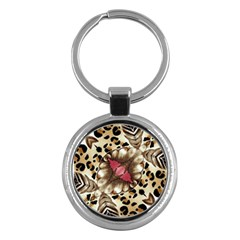 Animal Tissue And Flowers Key Chains (round)