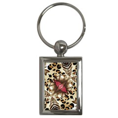 Animal Tissue And Flowers Key Chains (Rectangle)