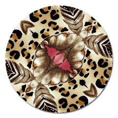 Animal Tissue And Flowers Magnet 5  (round)