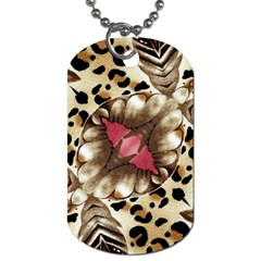 Animal Tissue And Flowers Dog Tag (one Side)