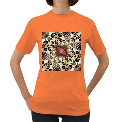 Animal Tissue And Flowers Women s Dark T Shirt