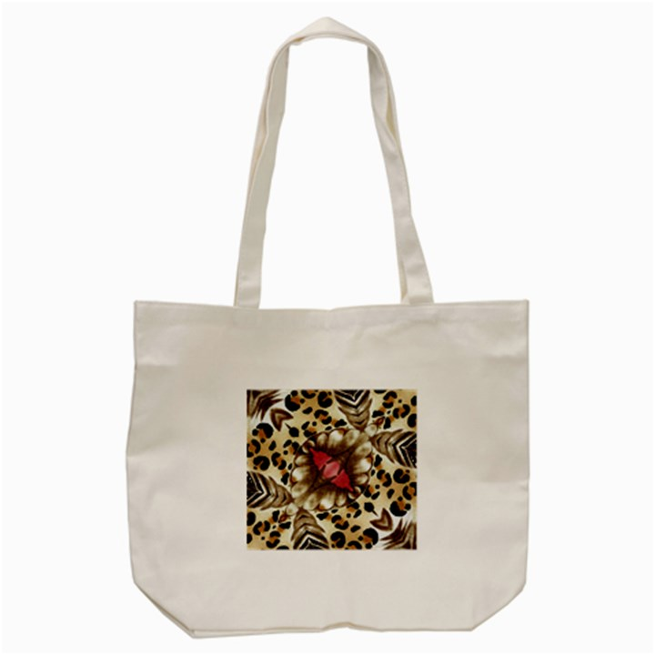 Animal Tissue And Flowers Tote Bag (Cream)