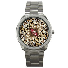 Animal Tissue And Flowers Sport Metal Watch