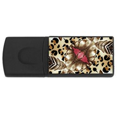 Animal Tissue And Flowers Usb Flash Drive Rectangular (4 Gb)
