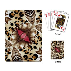 Animal Tissue And Flowers Playing Card