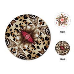 Animal Tissue And Flowers Playing Cards (Round)