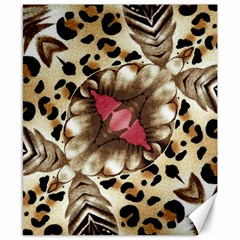 Animal Tissue And Flowers Canvas 8  X 10