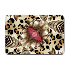 Animal Tissue And Flowers Small Doormat
