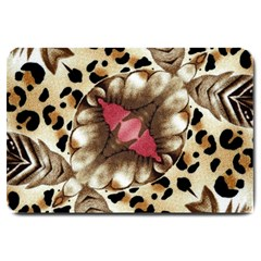 Animal Tissue And Flowers Large Doormat