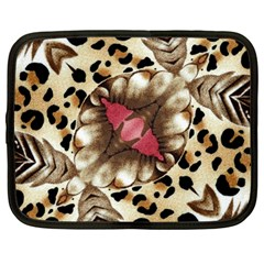 Animal Tissue And Flowers Netbook Case (Large)