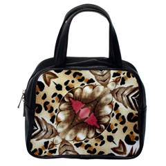 Animal Tissue And Flowers Classic Handbags (one Side)