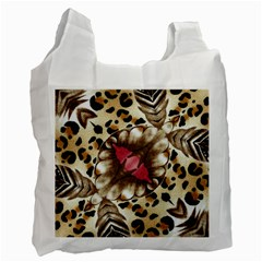 Animal Tissue And Flowers Recycle Bag (one Side)