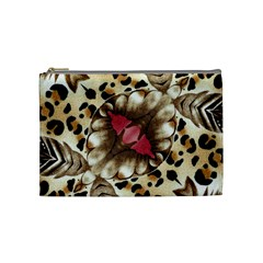 Animal Tissue And Flowers Cosmetic Bag (Medium)
