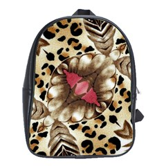 Animal Tissue And Flowers School Bags(large)