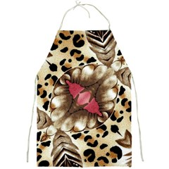 Animal Tissue And Flowers Full Print Aprons