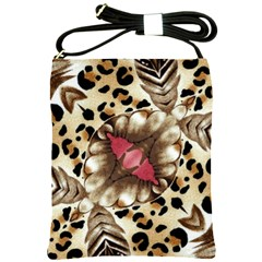 Animal Tissue And Flowers Shoulder Sling Bags